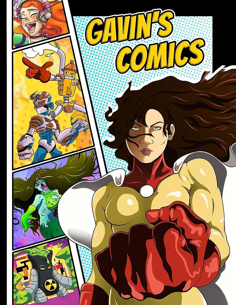 滑り台主支配的Gavin's Comics: Personalized Create a Comic!: 50 Unique, Blank, Single-Sided, Practice Pages! Each Page is Different for Drawing Your Own Comic Book on a Large Variety of Panel Patterns, Size 8 1/2