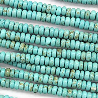 Natural Blue Turquoise Rondelle Gemstones Loose Beads Findings Jewerlry Making (3*5mm)