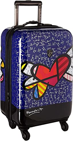 "Britto Heart with Wings 21"" Spinner"