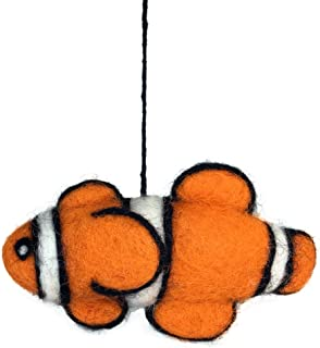 Ruth + Wilde Wool Clown Fish Christmas Tree Ornament