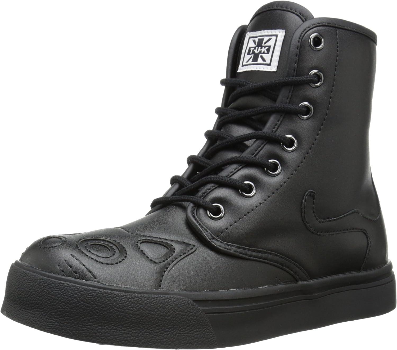T.U.K. schuhe Woherren All schwarz Kitty Combat Stiefel Turnschuhe Turnschuhe EU42 UKW9  Online-Verkauf