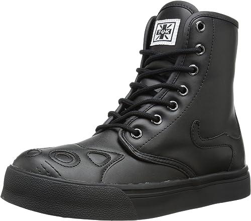 T.U.K. chaussures Wohommes All noir Kitty Combat démarrage paniers EU37 UKW4
