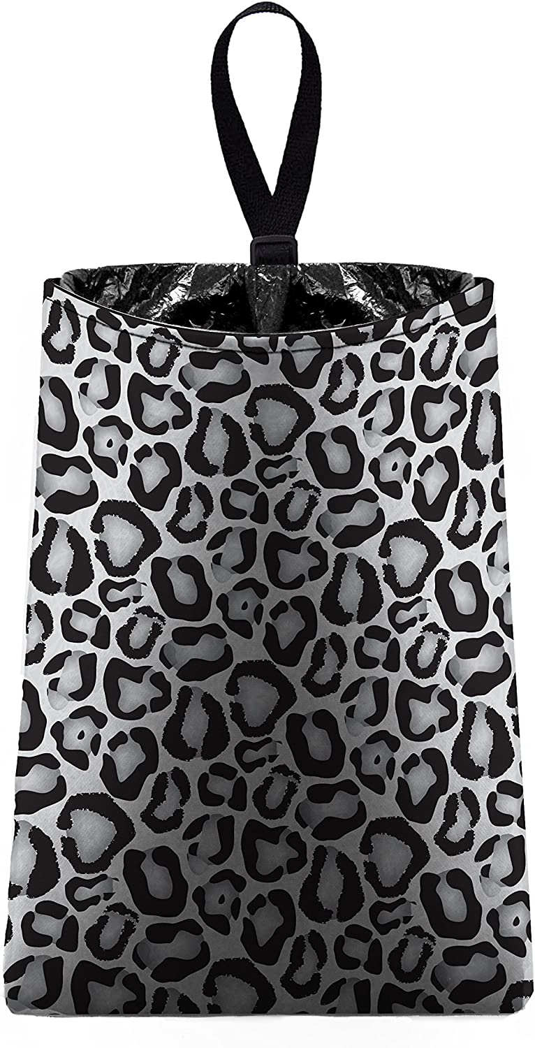 The Mod Mobile Auto Trash Grey Print National products Max 52% OFF White Leopard Snow ca and