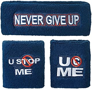 WWE John Cena U Cant Stop Me Sweatband Set Multi