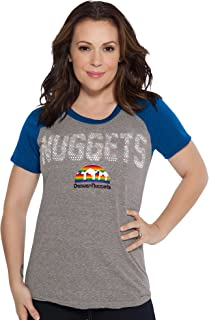 Touch by Alyssa Milano NBA Denver Nuggets Conference Tee, X-Large, Heather Grey