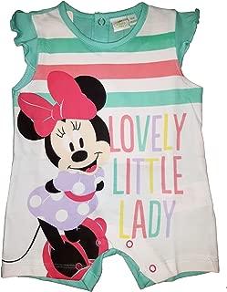 Disney Pigiama neonata Puro Cotone Mezza Manica Minnie topolina Art WD101144 Limone
