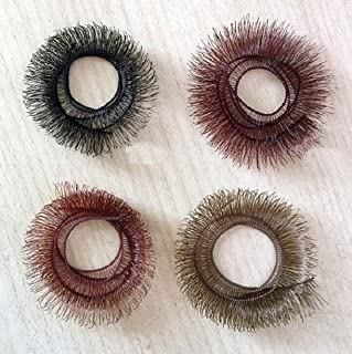 Size 7 Blown glass vintage brown doll eye set in a sterling silver