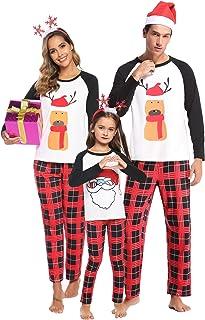 طقم منامات عيد الميلاد من Aibrou Family Matching Christmas من القطن المخطط ملابس نوم للنساء / الرجال / الأولاد / البنات