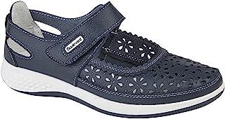 Boulevard - Chaussures ouvertes perforés (pied large) - Femme