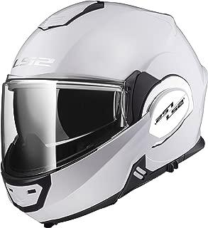 LS2 Helmets Motorcycles & Powersports Helmet's Modular Valiant (White, Large)