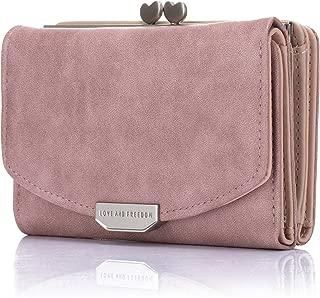 Lomendio Womens Genuine Leather Wallet RFID Blocking Credit Card Holder Multi Card Organizer with Zipper Pocket