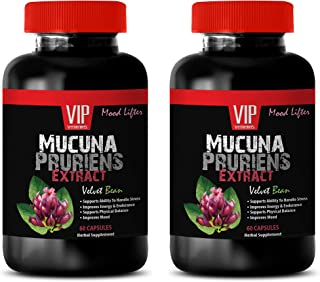 Herbal Booster for Men - MUCUNA PRURIENS Extract 350 MG - Nerve Support Formula Extra Strength - 2 Bottles 120 Capsules