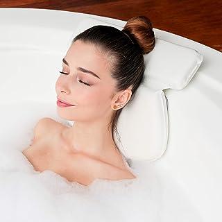 Almohada de Baño Para Tina  Soporte de Cojín para Cuello, Hombros y Cabeza  Con Ventosas Antideslizantes   Almohadas Impermeables para Jacuzzi, Bañera y Spa