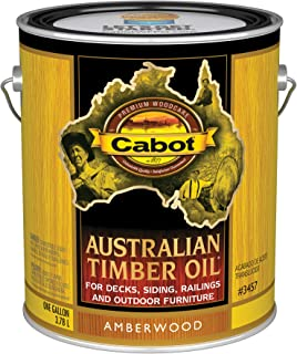 Cabot 140.0003457.007 Australian Timber Oil Stain, Gallon, Amberwood