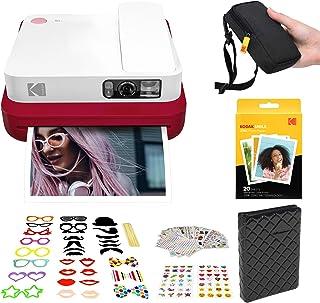 KODAK Smile Classic Cámara Digital instantánea con Bluetooth (Rojo) Kit de Cabina de Fotos