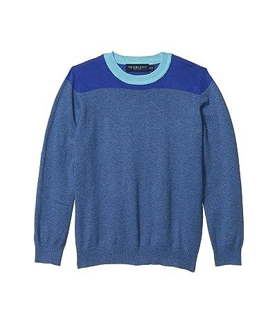 Toobydoo Color Block Sweater (Toddler/Little Kids/Big Kids) (Blue) Boy