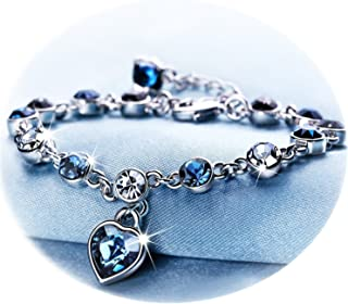 RONLLNA Bracelet for Women and Teens Birthstone Charm Eternal Love Crystal Jewelry for Women Girl