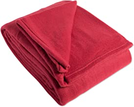 """Luxury Solid King Fleece Blanket or Throw (108x90"""" - Claret) Ultra Soft, Cozy, & Warm for Bed, Couch, Sofa, Camping, Beach"""