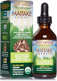 Host Defense, Maitake Extract, Promotes Normal Blood Sugar Metabolism Already Within The Normal Range, Daily Mushroom Supp...