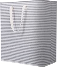 Lifewit Laundry Hamper Clothes Hamper Large Capacity Basket with Extended Handles for Storage Clothes Toys in Bedroom, Bathroom, Foldable, 100L, Grey
