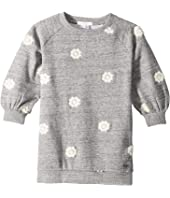 Chloe Kids - Adult Inspiration Fleece Dress with Embroidered Flowers (Toddler/Little Kids)