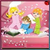 pj partido almohada - Niños de diversión con los amigos de