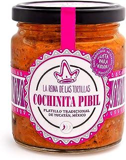 La Reina de las Tortillas - Líder europeo en gastronomía artesanal mexicana - Cochinita pibil. Plato tradicional de la península de Yucatán listo para calentar y servir. 250g. 6 raciones aprox