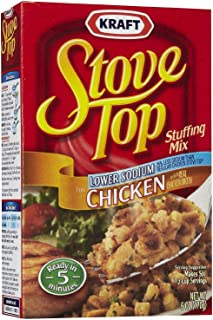 Stove Top Lower Sodium Chicken Stuffing Mix (Pack of 3) 6 oz Boxes
