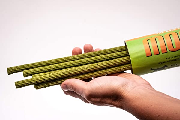 MosquitoBoff Natural Mosquito Repellent Incense Sticks For Outdoors LEMONGRASS Essential Oil DEET Free 12 Long Burn Sticks