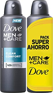 Dove Men Pack Ahorro Desodorante Clean Comfort  2 Packs (4 x 200 ml)