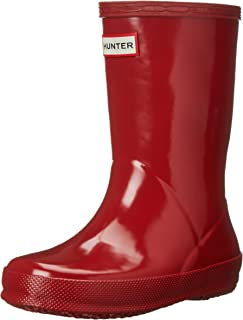 Hunter Kids' First Gloss (Toddler), Military Red, 7 M