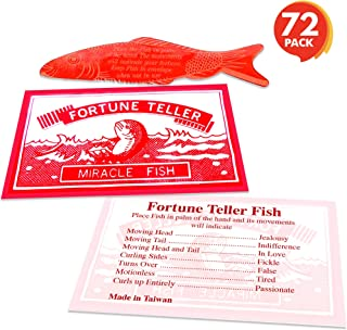 ArtCreativity Large 3.5 Inch Mood Fortune Teller Fish - Set of 72 - Cool Novelty Toy for Kids and Adults - Fun Science Learning Aid - Unique, Christmas Party Cracker Toy, Birthday Party Favor