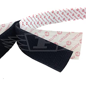 1 Meter x 25mm BLACK VELCRO® BRAND SELF ADHESIVE PS14 HOOK & LOOP - FREE UK DELIVERY
