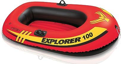 قارب مطاط لشخص واحد، 58 X 33 X 14 إنش من انتكس - برتقالي