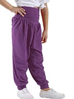 Allesgut Girls Capri Leggings Active Tights Calf Length Cropped Pants 5 Pack for 2-9 Years
