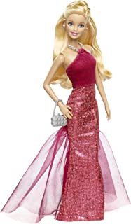 Barbie Signature Style Barbie Doll with Red Halter Gown