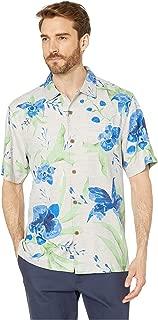 Tommy Bahama Men's Aqua Blooms Regular Fit Silk Sport Shirt