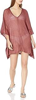 Women's Open Side V-Neck Tunic Shimmer Cover-up