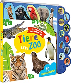 Soundbuch Tiere im Zoo: Soundleiste mit 10 Tiergeraeuschen