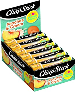 ChapStick Summer Collection Peaches & Cream, 0.15 oz (Pack of 12)