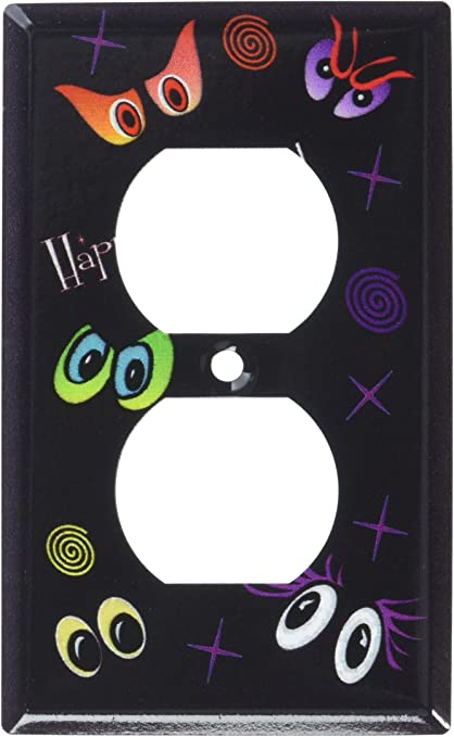 Art Plates Happy Halloween Outlet Switch Plate Outlet Cover Single Switch Plates