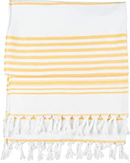 Luxury Turkish Towels for Beach, Bath, or Poolside Comfort | Authentic Handmade in Turkey - Yellow