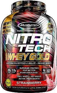 ナイトロテック100%ホエイゴールド 2.51kg (Nitrotech 100% Whey Gold 5.53Lbs) (ストロベリー)