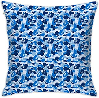 CCGGJPYI Bape Blue Camo Decorative Throw Pillow Case Cushion Cover 18