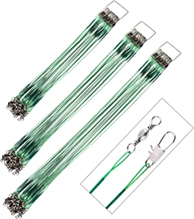 GOTRAYS 30Pcs Fishing Leaders Wire Tooth Proof 7 Strand...
