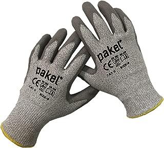 Pakel Y-01-10 High Performance En388 CE Level 5 Cut Resistant Knit Wrist Gloves, X-Large, Size 10