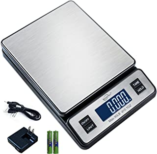 Weighmax W-2809 90 LB X 0.1 OZ Durable Stainless Steel Digital Postal Scale, Shipping..