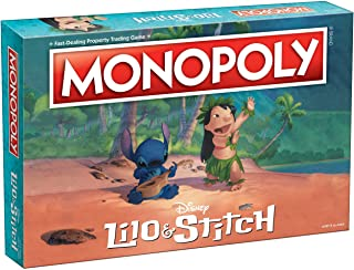 Monopoly Disney Lilo & Stitch Board Game | Based on Disney's Lilo and Stitch Animated Movie | Collectible Monopoly Board Game