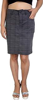 FCK-3 Women Cotton Pencil Cut Skirt