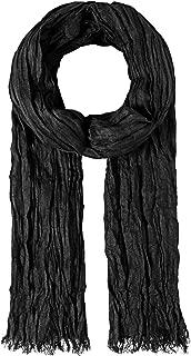 longue avec de petites franges uni design /à la mode et /élegante effet froiss/é Vincenzo Boretti /écharpe femme y homme